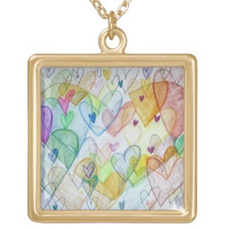 Community Hearts Color Pendant Necklace Jewelry