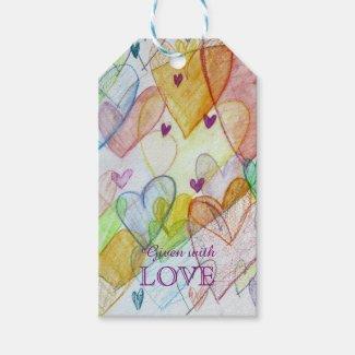 Community Hearts Love Custom Card Gift Tags
