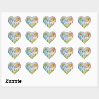 Community Hearts Love Labels Art Stickers