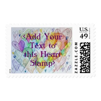 Community Hearts Love Postage Stamps