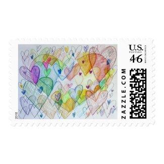 Community Hearts Postage Stamp zazzle_stamp