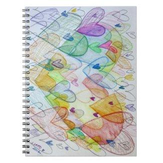 Community Hearts Rainbow Art Notebook Journal