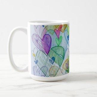 Community Hearts Rainbow Custom Coffee Cup