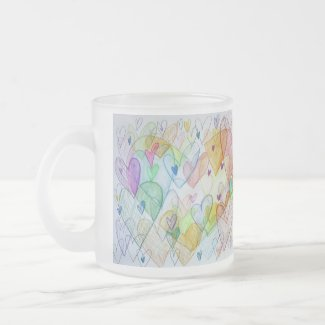 Community Hearts Rainbow Custom Coffee Cups