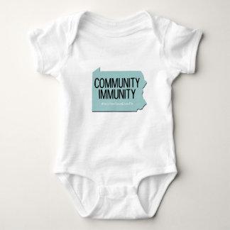 Community Immunity one-piece Baby Bodysuit