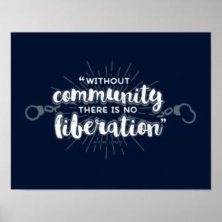 Community Liberation 11x14 Dark Print