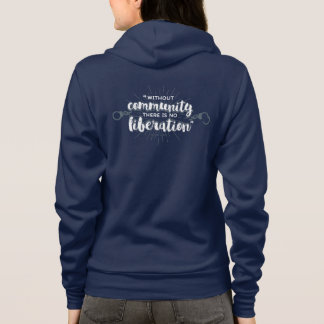 Community Liberation Fitted Navy Hoodie