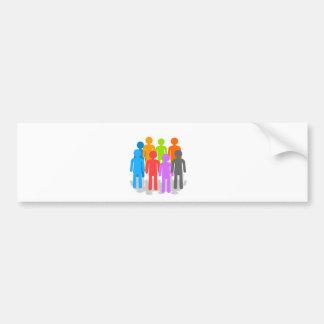 Community of people bumper sticker