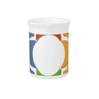 Community of People in a Circle Drink Pitcher