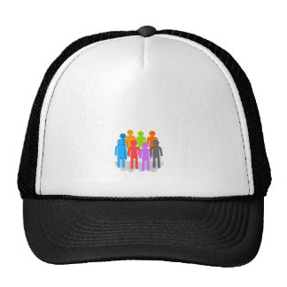 Community of people trucker hat