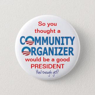 Community Organizer Obama Pinback Button