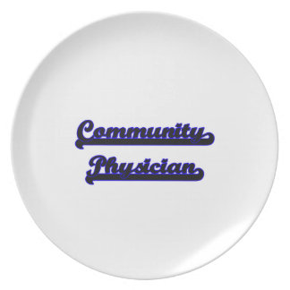Community Physician Classic Job Design Party Plates