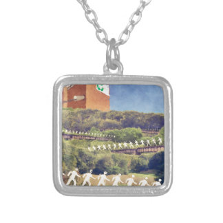 Community Recycling Silver Plated Necklace