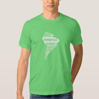 Community Service Ecuador in Multiple Colors Tee Shirt