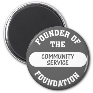 Community service starts with me as the foundation 2 inch round magnet