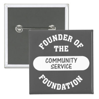 Community service starts with me as the foundation pins