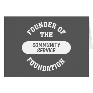 Community service starts with me as the foundation card