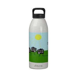 Community solar power generation drinking bottle