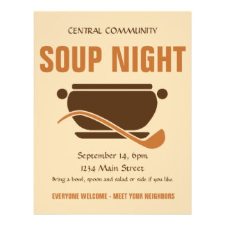 Community Soup Night custom flyer