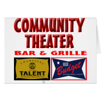 Community Theater Bar and Grill Card