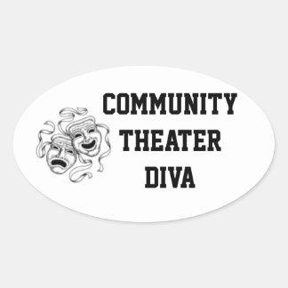 Community Theater Diva Sticker