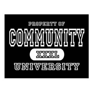Community Univeristy Dark Postcard