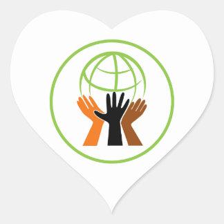 Community Village Circle Heart Sticker