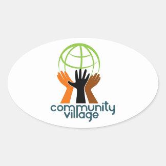 Community Village Oval Sticker