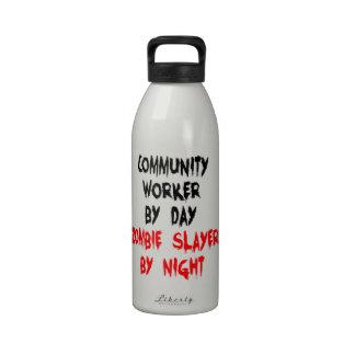 Community Worker Zombie Slayer Water Bottle