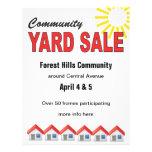 Community Yard Sale custom text flyer Flyers