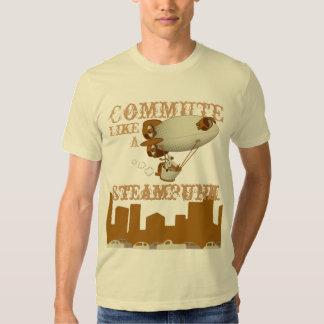 Commute like a Steampunk T Shirts