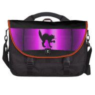 Commuter Bag Black Cat Purple