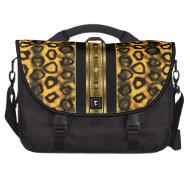 Commuter Laptop Bag Gold Leopard