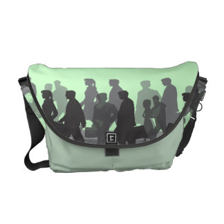 Commuter People on Mint Green Commuter Bag