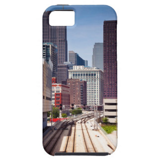 Commuter rail tracks lead into Downtown Chicago iPhone SE/5/5s Case