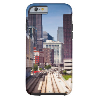Commuter rail tracks lead into Downtown Chicago Tough iPhone 6 Case