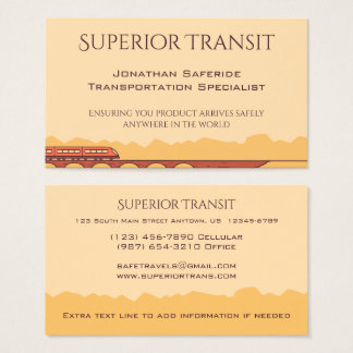 Commuter Train Crossing Bridge in Western Mountain Business Card