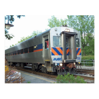 Commuter Train Post Card