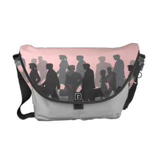 Commuters on Pink Courier Bag