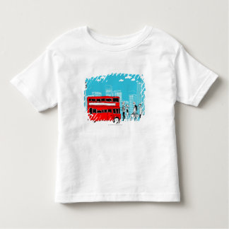 Commuters waiting at bus stop t-shirt