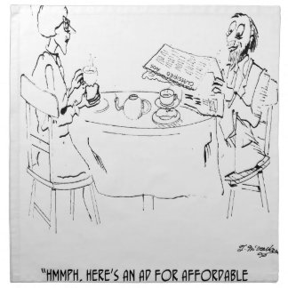 Commuting Cartoon 1098 Napkin