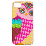 Cómo ahora búho rosado - lunares iPhone 5 Case-Mate cárcasa