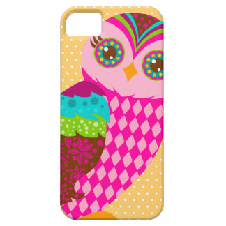 Cómo ahora búho rosado - lunares iPhone 5 fundas