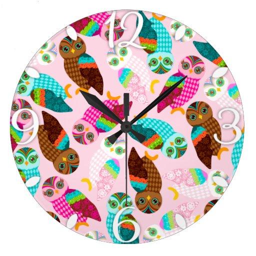 ¿Cómo ahora pequeños búhos? Reloj
