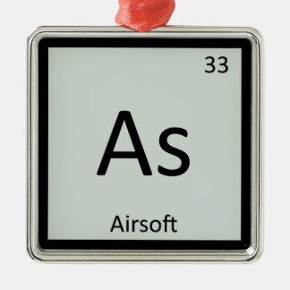 Como - Airsoft se divierte la tabla periódica de Adorno Navideño Cuadrado De Metal