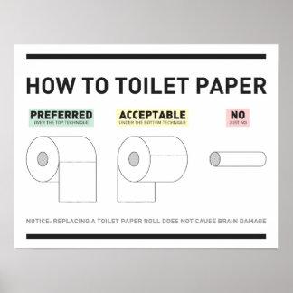 Cómo al papel higiénico póster