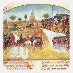 Cómo Alexander el grande cruzó el Tigris Pegatina Cuadrada