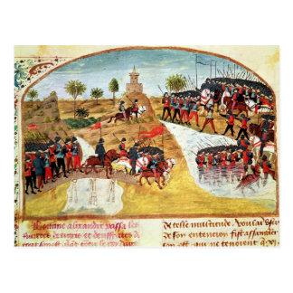Cómo Alexander el grande cruzó el Tigris Tarjeta Postal