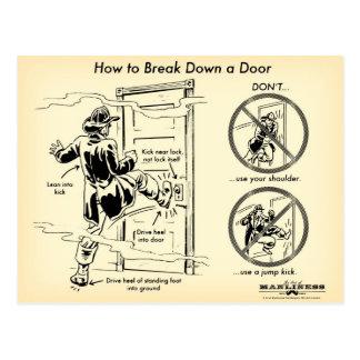 Cómo analizar una postal de la puerta