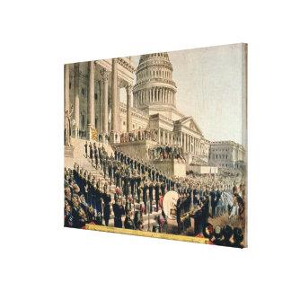 Como aparecían participantes en la inauguración impresión en lienzo estirada